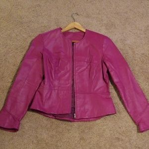 Shape fx fuchsia 💯% leather jacket